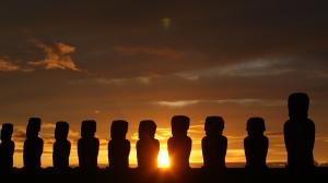 Sunrise at Tongariki Moai, Easter Island