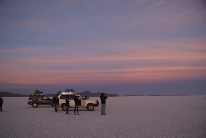 Sunrise on Salar de Uyuni