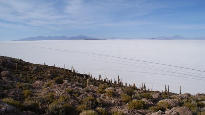 View from the top of Isla Incahuasi (Cactus Island)