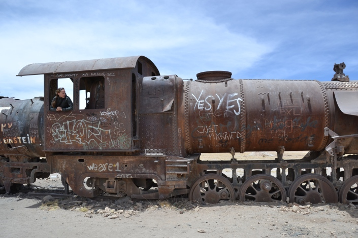 Train graveyard outside Uyuni
