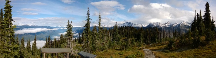 View from the top of Mount Revelstoke