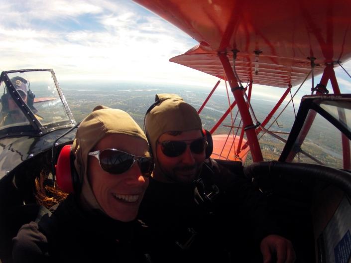 Biplane selfie!