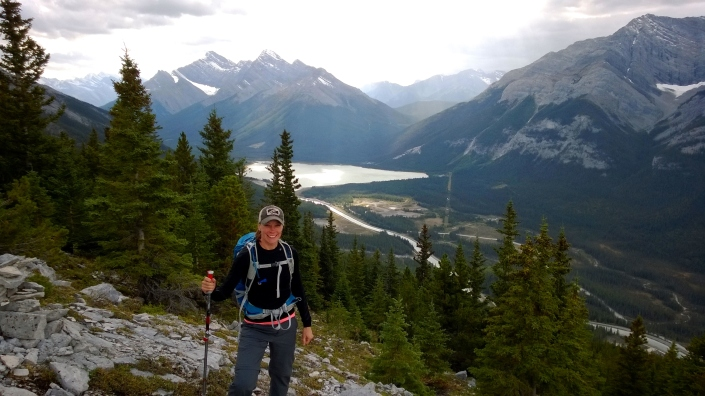 Hiking in the Rockies just outside of Canmore, Alberta.