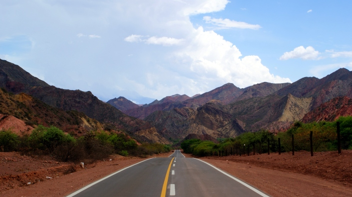 Driving Route 68 from Salta to Cafayate, Argentina.